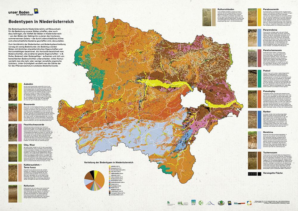 Karte Wien Niederosterreich.Unser Boden